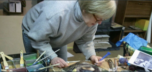 Barb Hranilovich doing encaustic