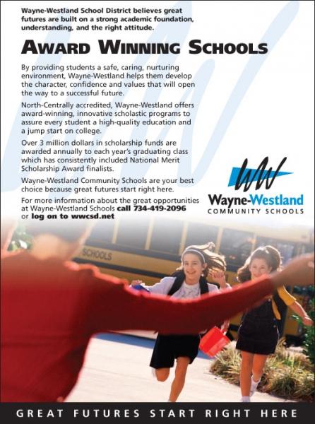Wayne-Westland School District Ad